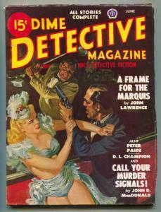 Dime Detective Pulp June 1948- Saunders headlight cover