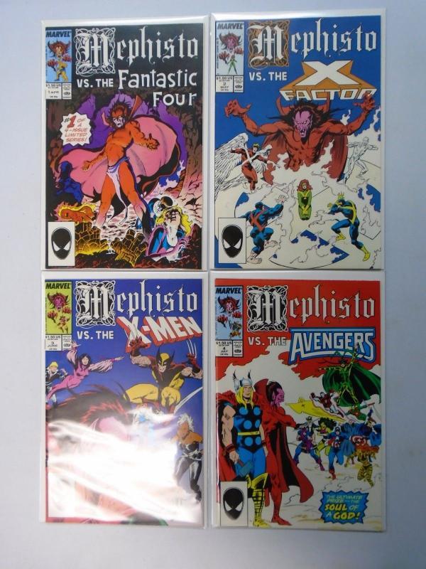 1e9354c2e5 Mephisto vs. Fantastic Four, X-Factor, X-Men, Avengers, Set:#1-4, 8.0/VF  (1987) / HipComic
