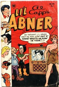 L'IL ABNER #92--1953--WOLF GAL WITH TV SET COVER-AL CAPP ART-TOBY PUBS