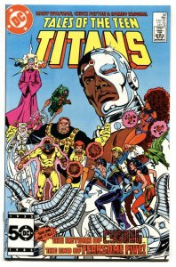 Tales Of The Teen Titans #58  nm- 1st mention of the MONITOR. DC
