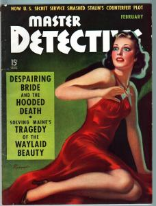 MASTER DETECTIVE FEB 1940-FN-STALIN'S COUNTERFEIT PLOT!-SPICY COVER FN