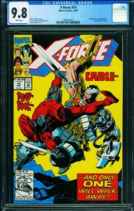 X-FORCE #15 CGC 9.8 DEADPOOL CABLE MOVIE marvel 1994555014
