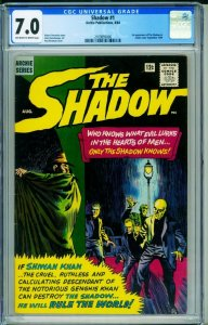 The Shadow #1 CGC 7.0 1964- Archie- Shiwan Khan 2109895006
