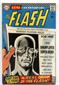 Flash #167 1967-DC Silver Age- New Origin issue FN/VF