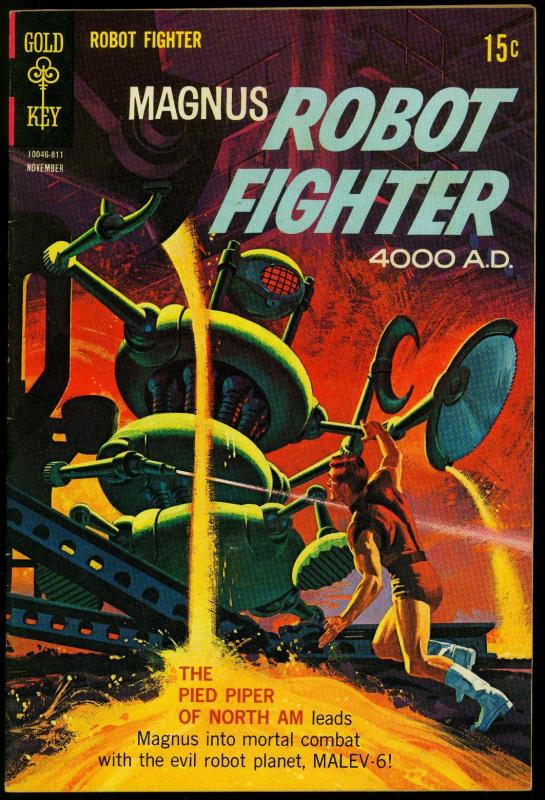 Magnus Robot Fighter #24 1968 -Gold Key Silver Age Silver Age VF