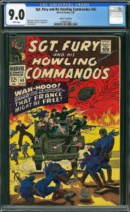 Sgt Fury #40 (DC, 1967) CGC 9.0