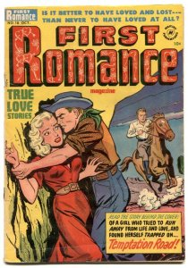 First Romance #18 1952- Call Me Wicked- menace cover