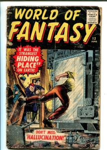 WORLD OF FANTASY #12 1958-ATLAS-DINOSAUR-HORROR-MYSTERY-fr