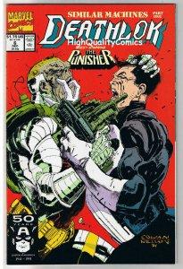 DEATHLOK #6, VS Punisher, NM+, Cyborg, Human Machine,1991, more Marvel in store