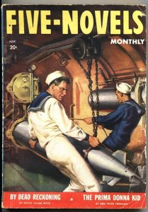 FIVE NOVELS MONTHLY-JULY 1941--ADVENTURE-PULP-SUBMARINE COVER--WW II