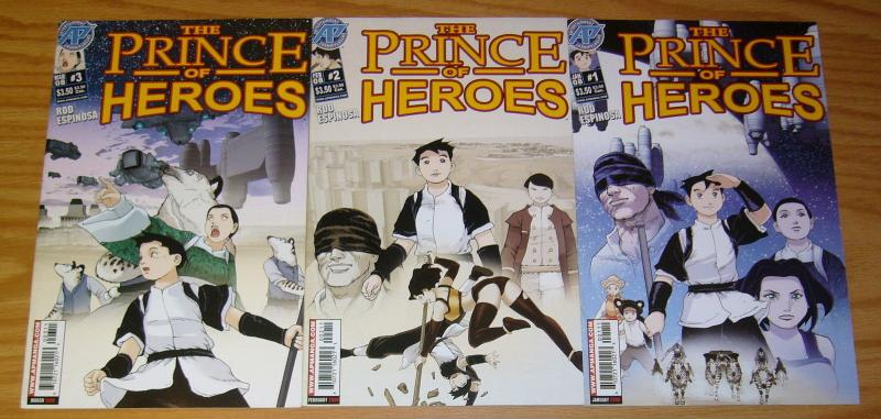 Prince of Heroes #1-3 VF/NM complete series ROD ESPINOSA antarctic press manga 2