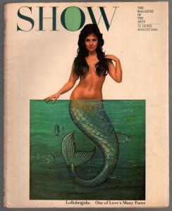 Show 8/1963-Gina Lollobrigida mermaid cover-movies-TV-art-FN