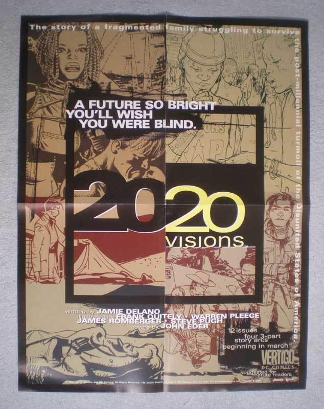 2020 VISIONS Promo Poster, Vertigo, 17x22, 1997, Unused, more Promos in store