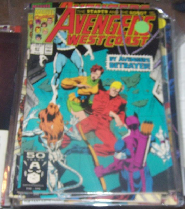west coast avengers  # 67 feb 1991   ULTRON 13  HAWKEYE IRONMAN pym QUICKSILVER