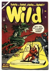 WILD #2 1954-AVON-JOE MANEELY-HORROR-WITCH cover-Nice Copy