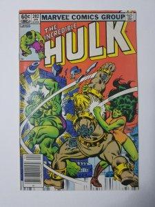 1983 The Incredible Hulk #282 1st TEAM UP Hulk & She Hulk