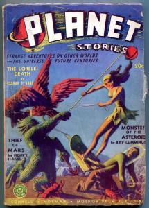 Planet Stories Pulp Winter 1945- Lorelei Death- Thief of Mars VG