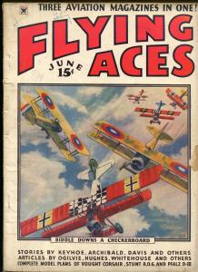 Flying Aces 6/1934-bedsheet edition-WWI aviation pulp thrills-VG MINUS