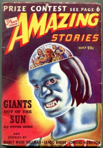 Amazing Stories Pulp May 1940- Adam Link Robot Detective- Giants of the Sun