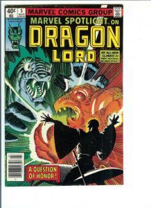 Marvel Spotlight Dragon Lord  #5 - Bronze Age - 1980 (NM-)