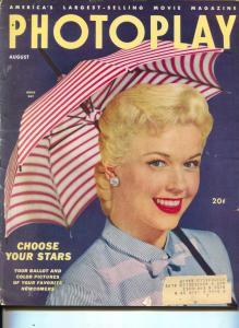 Photoplay-Doris Day-Marilyn Monroe-Joe DiMaggio-Jeff Chandler-Aug-1953
