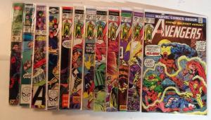 Avengers 126-131 133 135 203 246 302 King Size Annual 2 FN/VF Lot Set Run