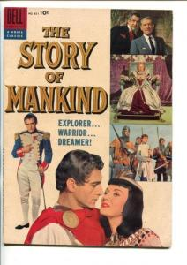 THE STORY OF MANKIND #851-DELL-1957-SCI-FI-HOPPER-PRICE-MARX BRO-FOUR COLOR-vf