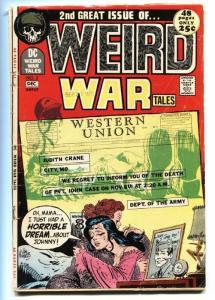 WEIRD WAR TALES #2 comic book 1971- DC Bronze Age Joe Kubert