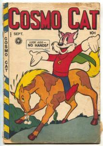 Cosmo Cat #9 1947- Fox Golden Age comic- no back cover