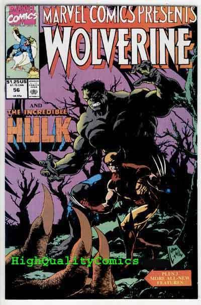 MARVEL COMICS PRESENTS #56, NM, Wolverine vs Hulk, Steve Ditko, more in store