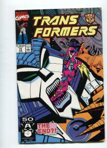 Transformers 75 VF+ Needs Pressed  Low print Run HTF