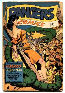 Rangers Comics #31 comic book 1946- Suggestive snake menace cover-Bondage GGA