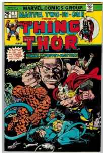 MARVEL TWO IN ONE 9 F-VF May 1975 Thing/ Thor