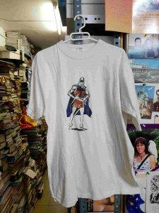Camiseta del guerrero del antifaz en posicion defensiva, talla XL