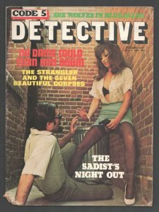 Code 5 Detective 2/1973-Gun Moll in stockings photo cover-She Wolves in Blue...