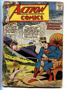 ACTION COMICS #244 1958-DC-SUPERMAN SUBMARINE-SHARK-fr