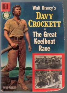 Davy Crockett in The Great Keelboat Race-Four Color Comics #664 1955-Dell-P/FR