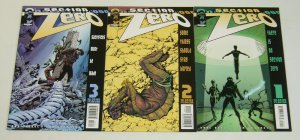 Section Zero #1-3 VF/NM complete series - United Nations paranormal research 2