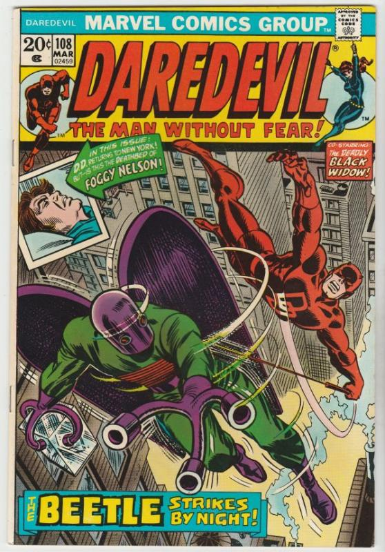 Daredevil #108 (Mar-74) NM- High-Grade Daredevil, Black Widow