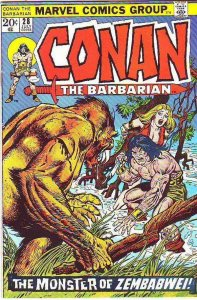 Conan the Barbarian  # 28  strict  VF+  artist  John Buscema