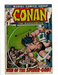 Conan The Barbarian #13 FN Marvel Comic Book Barry Smith Kull King Sword NP16