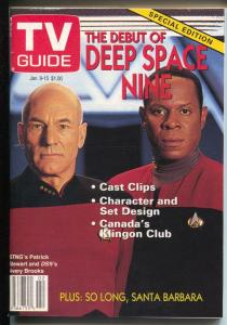 TV Guide 1/9/1993-Debut of Deep Space Nine Special Edition-NM