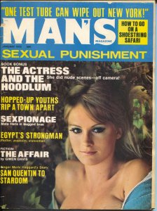 Man's Magazine 1/1972-Merle Haggard-hopped-up youth-Good Girl Art-VG-