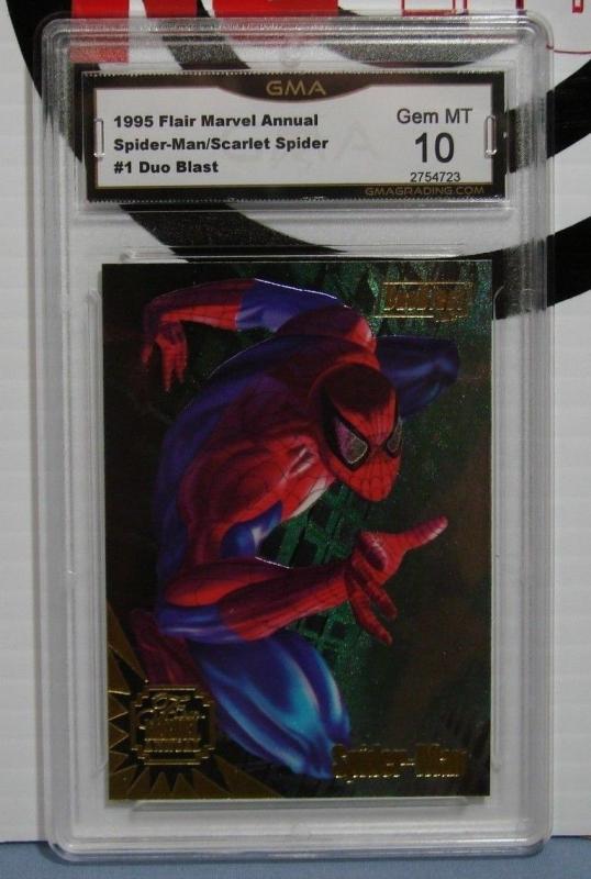 1995 Flair Marvel Annual Card #1 Scarlet/Spider-Man Duo Blast Graded GEM MT 10!!