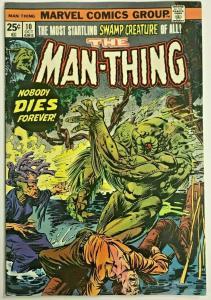 MAN-THING#10 FN/VF 1974 MARVEL BRONZE AGE COMICS