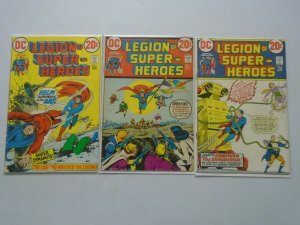 Legion of Super-Heroes #1-3 4.0 VG (1973 1st Series)