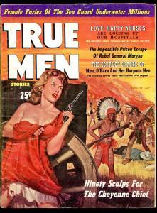 TRUE MEN MAGAZINE AUGUST 1959-O'HARA-GENERAL MORGAN-CHEYENNE-VG+