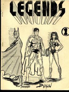 Legends Bulletin #1 1986-Marvel-DC-Batman-Superman-Wonder Woman-FN