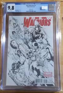 New Warriors #1 Marvel 2014 1:100 j Scott Campbell Variant CGC 9.8 NM/MT TV Show