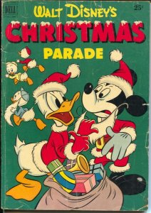 Christmas Parade #3 1951-walt Disney-Santa Claus-Mickey Mouse-Donald Duck-VG